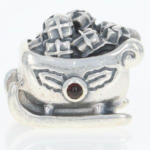 Authentic Pandora Retired Garnet Sleigh Charm
